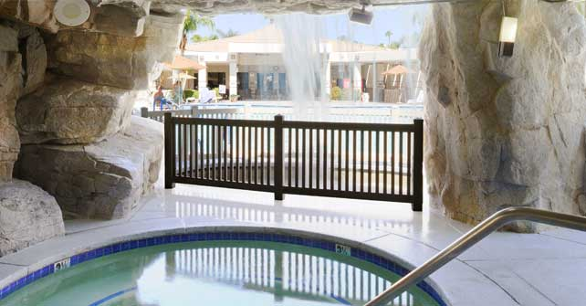 Pools and fitness center palm canyon resort by diamond - Palm canyon resort 2 bedroom villa ...